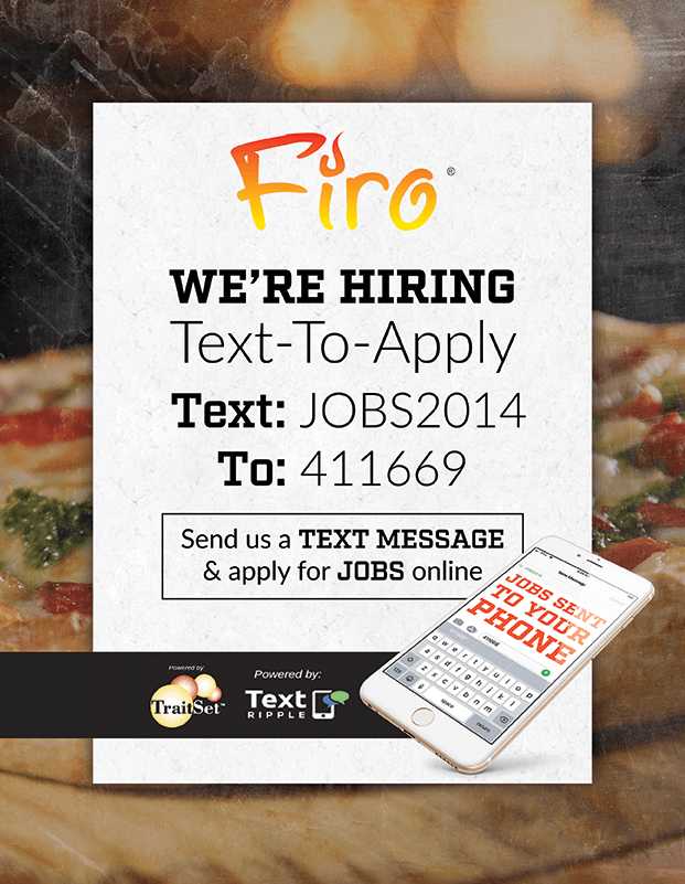 Text-to-apply:  Text JOBS2014 to 411669 to apply today!