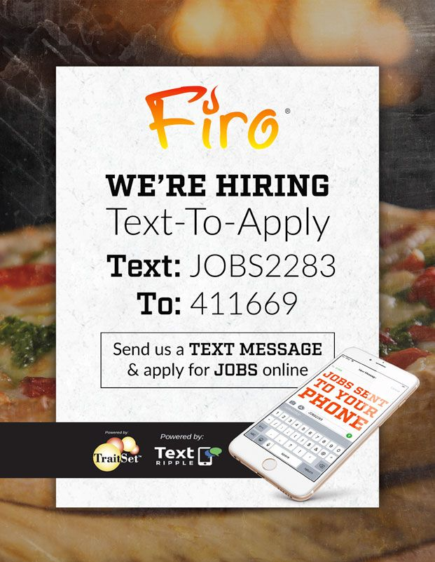 Text-to-apply, Text JOBS2283 to 411669 to apply!
