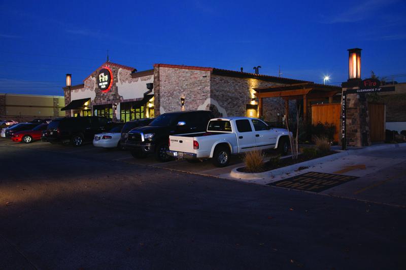 The Lawton Firo location at nighta