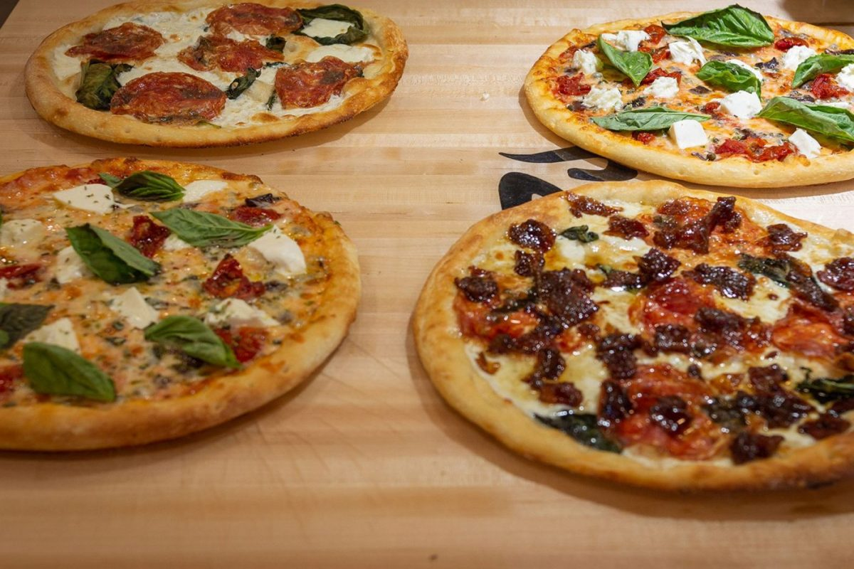 Four different Firo pizzas